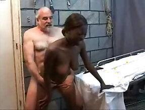 Old Perverted Grandpa Fucks Black Teen superb hot Girl