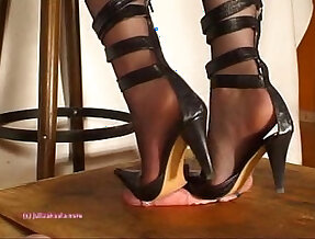 Beneath indian mistress julie singlas soles who tramples cock with heeljob