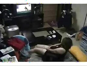 Hidden cam caught my mom masturbating watching a porno