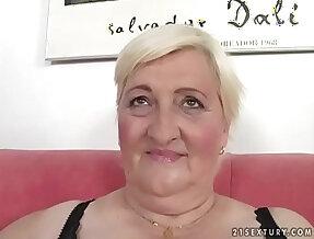 Fat grandma Cecilia fucked so hard
