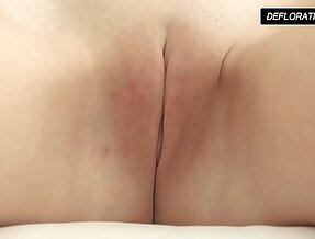 Dunja Kazimkina masturbating and showing off her pussy