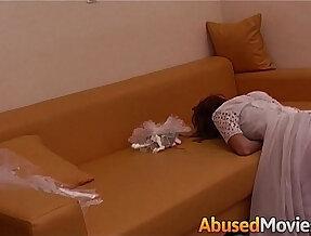 Abusive Couple Fucking a Young Bride