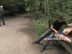 Lilla Kat made to cum all by complete strangers in a public place