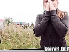 Mofos Stranded Teens Alessandra Jane Horny Hitchhiker Sucks a big Cock