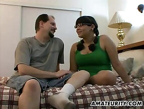 Chubby amateur girlfriend sucks fucks