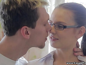Casual sex with doctor and sluty party college porn nerd Timea Bella