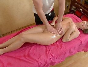 Young russian pussy licking with a masseur