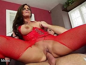 Big boobed Phoenix Marie suck a big dick
