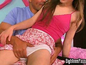 White panties getting wet
