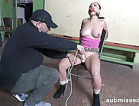Gagged slave girl is available for even more sexual punishment