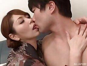 Asian girl Chisato Shohda with stockings moans during nice having it away