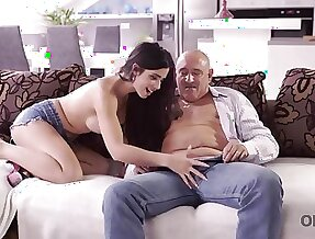 Mira Cuckold takes part in her first old and young sex