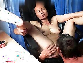 Thai asian milf full-grown suck fuck anal