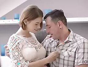 OLD4K. Milf papa helps large-bosomed young unshaded to relax having...