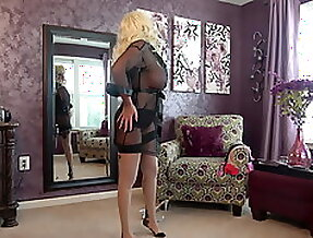 Trying on Stockings
