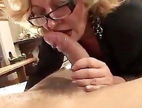 Horny Mature Blonde Francesca Torri Fucks Young Guy