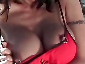 My Sexy Piercings Busty latina with nipple and pussy pierced
